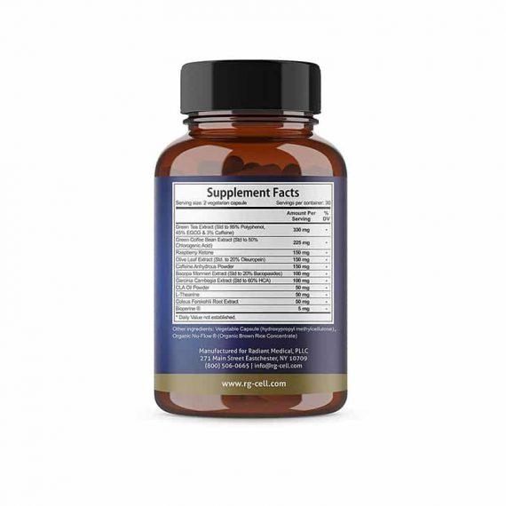 Fat Burner Weightloss Supplement Nutritional Facts