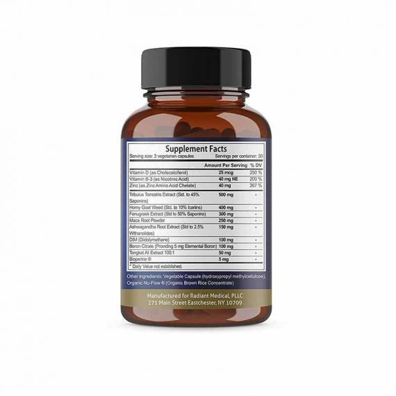 Testosterone Booster Supplement Facts