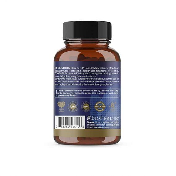 Turmeric Supplement Label
